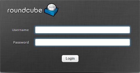 Giao diện đăng nhập của Roundcube webmail