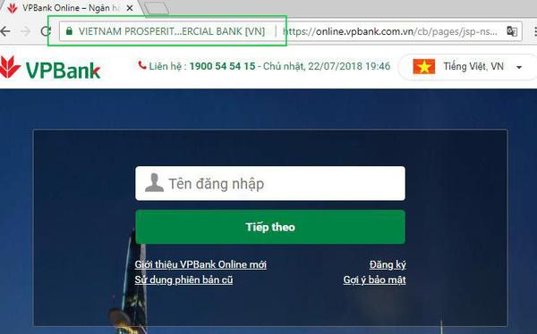 Chỉ sử dụng các website hỗ trợ HTTPS trong các giao dịch trực tuyến
