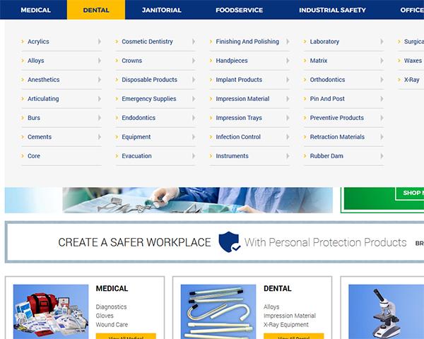 Một ví dụ về megamenu cho website thương mại điện tử